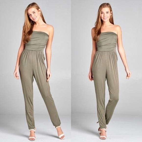851bead9fac Strapless jumpsuit